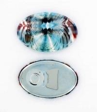 Oval Magnet-/Flaschenöffner Buttons-500 Sets