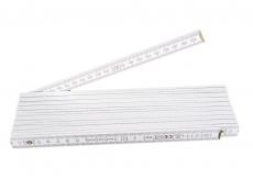Gliedermaßstab aus Holz, weiß, 4m