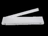 Gliedermaßstab aus Holz, weiß, 3m